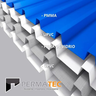 Techo Termoacustico UPVC Permatec