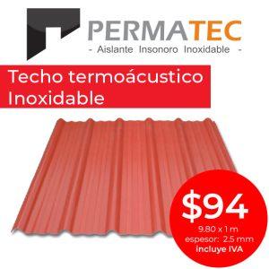 Techo termoacustico precio especial