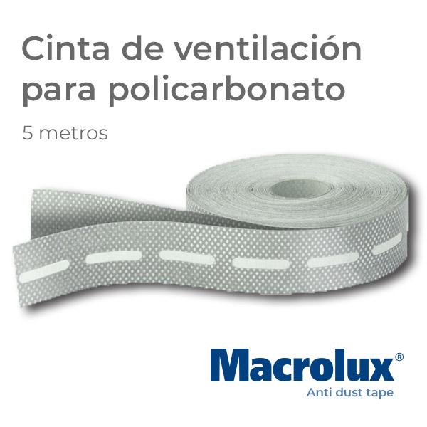 Cinta de ventilación para policarbonato