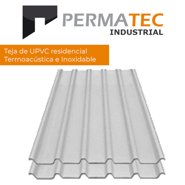 Techo industrial inoxidable Permatec termo acustico