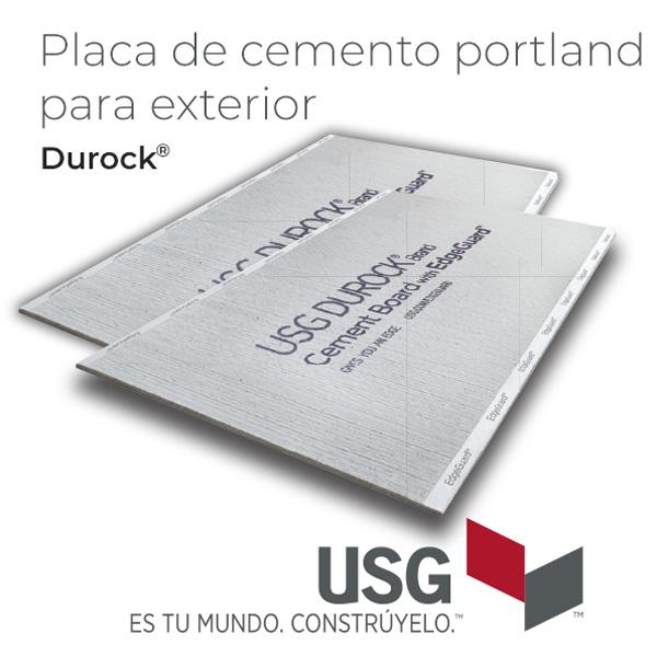 Placa de fibrocemento Durock