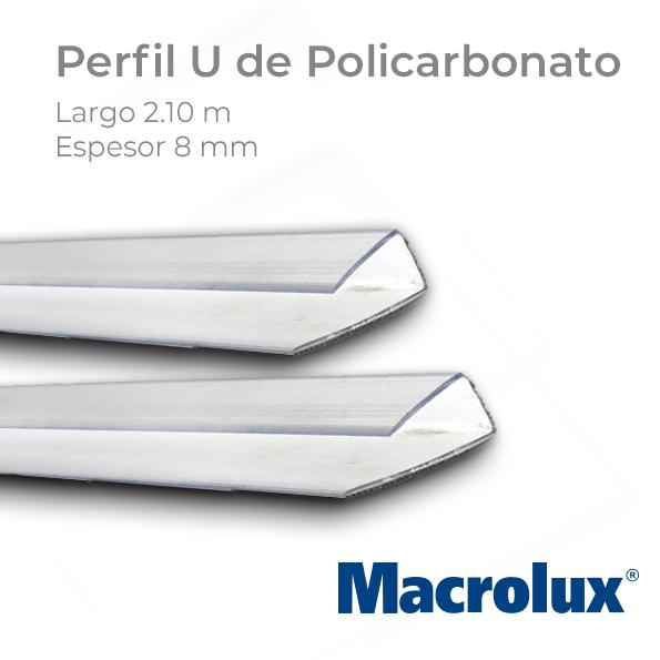 Perfil U para policarbonato