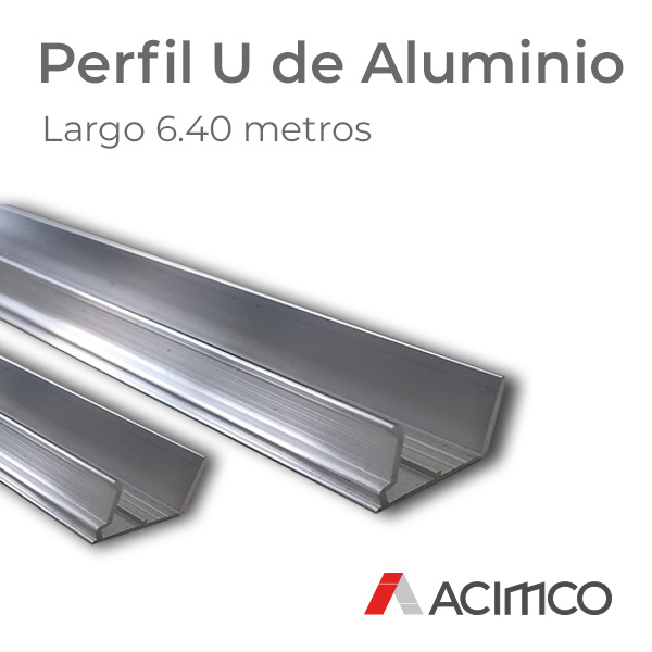 Perfil U de Aluminio